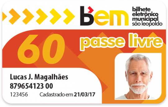 Cartão Passe Livre 60